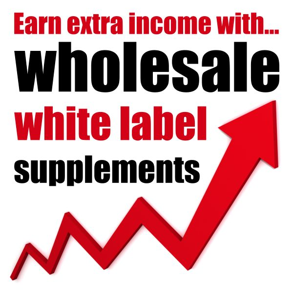 EARN EXTRA INCOME: Re-sell specialist wholesale supplements under your own personalised labels to boost your monthly income! Minimal financial outlay; NO minimum orders...
