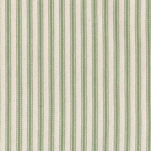 James Thompson House Designer - Ticking Woven Stripes - Ticking Woven Stripes in Apple Green
