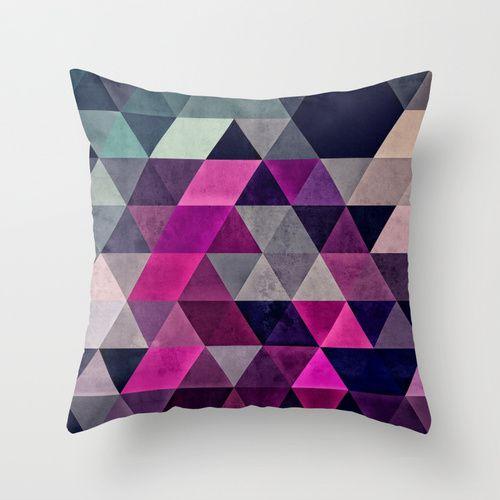 Hexagonal Pattern Pillow Cover | dotandbo.com $29.99
