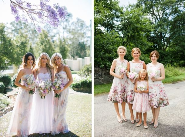 Get the Look: Floral Print Bridesmaid Dresses | SouthBound Bride