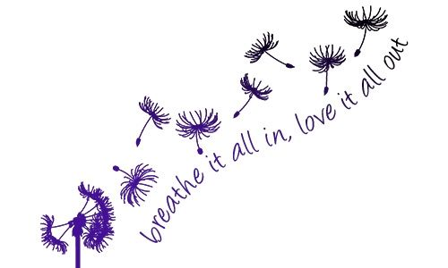 Colorful Dandelion Tattoo with Quote