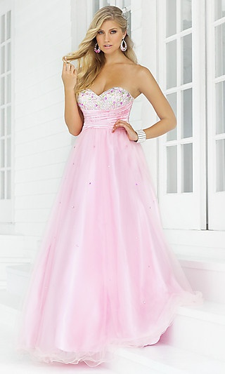 pink strapless: Long Dresses, Pink Pink Pink, Sleeveless Dresses, Pink Ball Gowns, Pinkpinkpink, Prom Dresses, Dresses Prom, Pink Dress, Quinceanera Dresses