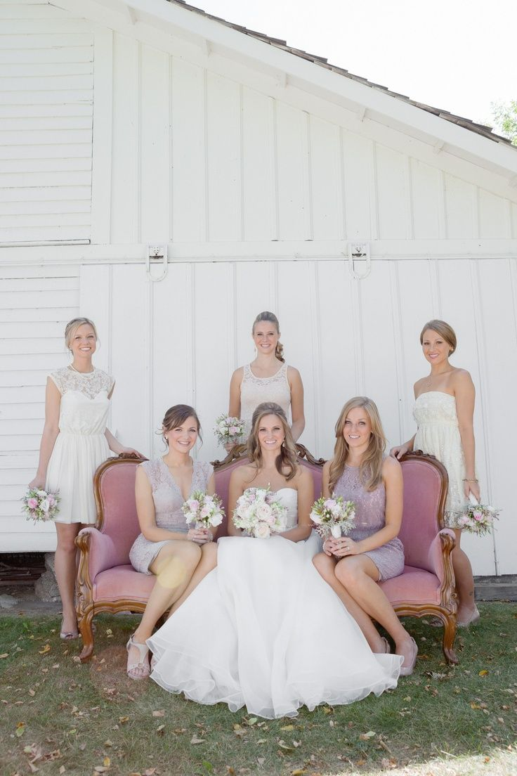 191 best mismatched bridesmaid dresses images on pinterest found on weddingmeyou mismatched bridesmaid dresses in neutral colors ombrellifo Gallery