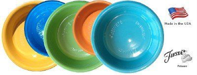 USA FIESTA PETWARE Fiestaware Porcelain FOOD BOWL DISH For Cats & Small Dogs XXS