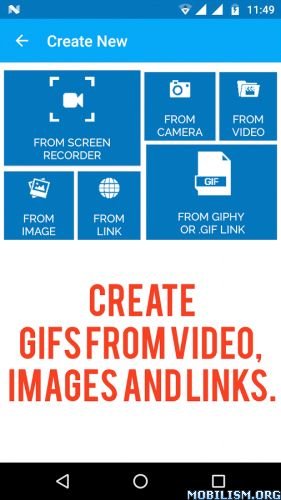 GIFs for Whatsapp: NO ADS v1.1Requirements: 4.1 and up Overview: Complete ADS free GIF Maker for Whatsapp, Facebook, Instagram and more. GIF Maker app gives you best way to make GIF and share with others. Create GIF with Images from your mobile,...