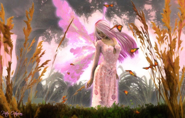"""""""Pink Moon"""" - one of my first.: Angel, Pink Fairies, Fairies Wallpapers, Enchanted Fairies, Quote, Fantasy Art, Beautiful, Faeries Dust, Fantasy Wallpapers"""