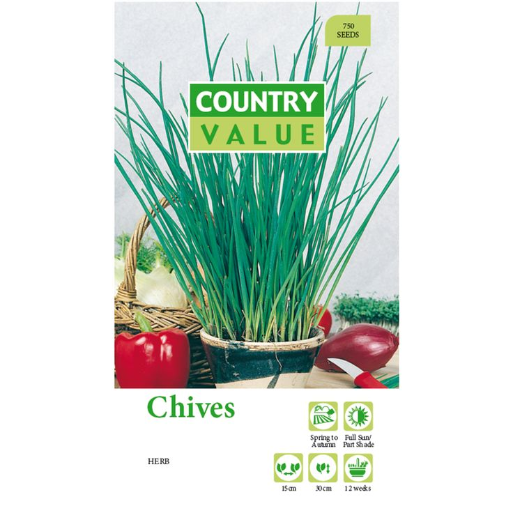 Country Value Chives Seeds | Bunnings Warehouse