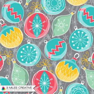 """""""Xmas Baubles"""" surface pattern desIgn by Robyn Bockmann COPYRIGHT 2014."""