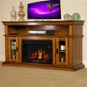 Cheap Electric Fireplaces | Discount Electric Fireplace Oak Media Console 95798 | eBay