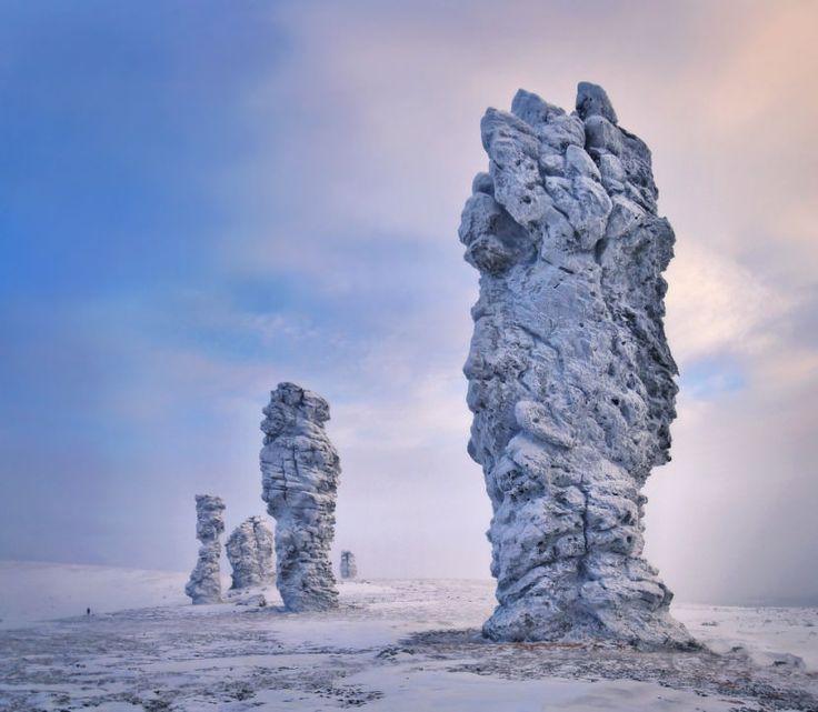Manpupuner Pillars, Russia