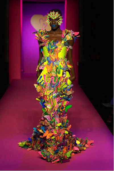Manish Arora's glow in the dark dress...beads, appliques, embroidery...imagination...