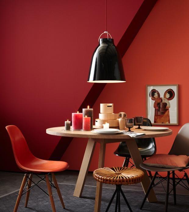 Die besten 25+ Wandgestaltung rot Ideen auf Pinterest rot - bilder wohnzimmer rot