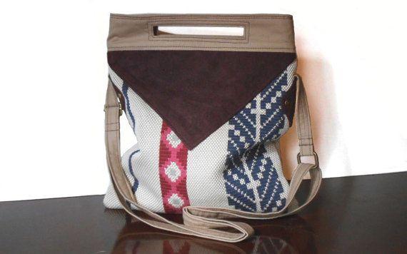 Cross Body Bag, Messenger Bag, Tote Bag, Boho Stripes