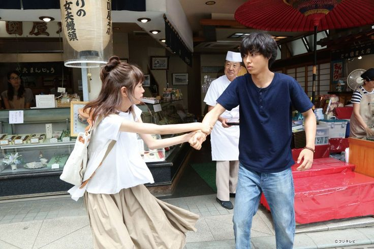 "Misaki: it's starting soon!!! Kanata: what r u talking about? Misaki; drama ""Sukina hito..."" [Preview, ep.3] https://www.youtube.com/watch?v=IuliXocK_XQ Mirei Kiritani x Kento Yamazaki x Shohei Miura x Shuhei Nomura, Nanao, Sakurako Ohara, J drama ""Sukina hito ga iru koto (A girl & 3 sweethearts)"", from Jul/11/2016"