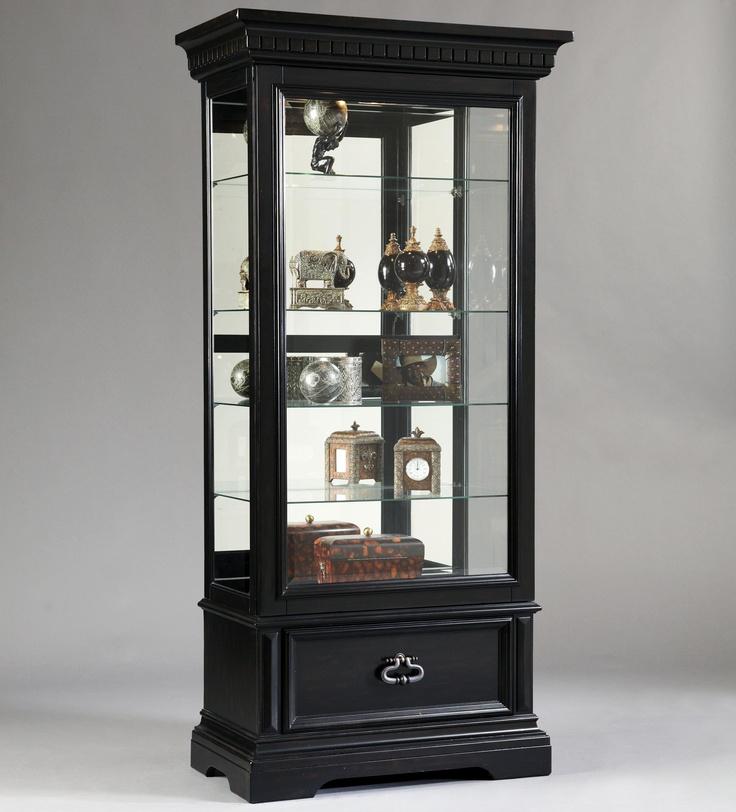 Curios Brookfield Sliding Front Door Curio Cabinet By Pulaski Furniture Suburban Furniture