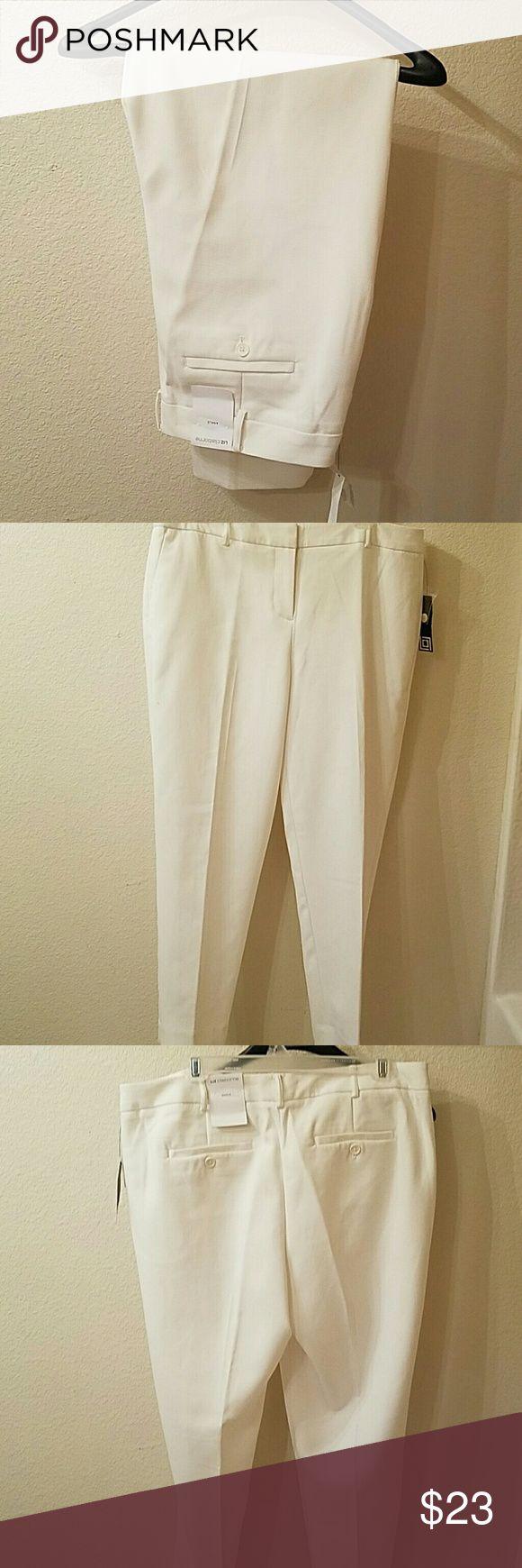 Liz Claiborne Marshmallow size 12 ankle pants Liz Claiborne new size 12 ankle pants Liz Claiborne Pants Ankle & Cropped