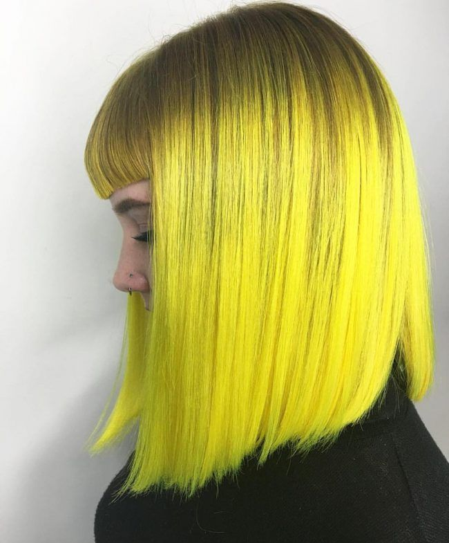 Neon Yellow Hair Color Hair Hair Pravana Hair Color