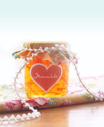DIY Homemade Jam Gift Labels - SO CUTE!