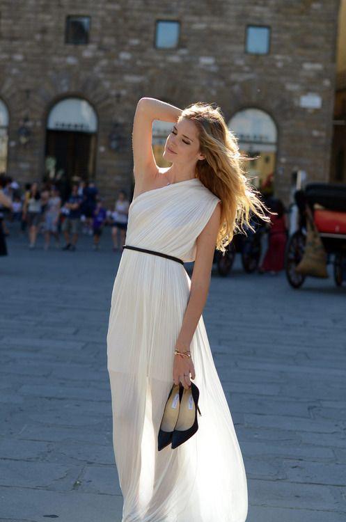 THE FRESH COLLECTIVE: Wedding Dressses, Fashion, Style, One Shoulder Dresses, Receptions Dresses, White Maxi Dresses, Grecian Goddesses, White Dresses, Grecian Dresses