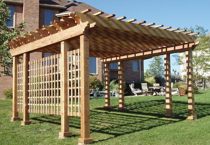 Western Red Cedar Pergola Kits Outdoor Living Wood