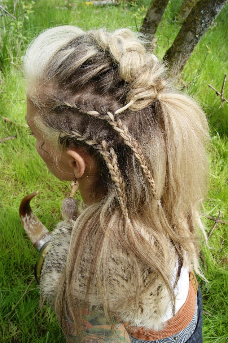 Viking Braided Hairstyle by Lavish Bronzing Boutique