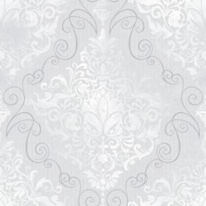 The wallpaper company 8 in x 10 in chandeliere damask for Yellow wallpaper home depot