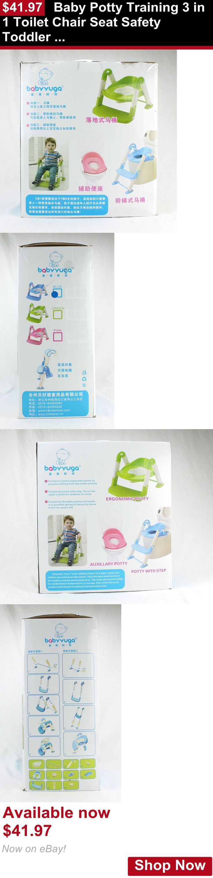 Potty Training: Baby Potty Training 3 In 1 Toilet Chair Seat Safety Toddler Step Ladder Trainer BUY IT NOW ONLY: $41.97