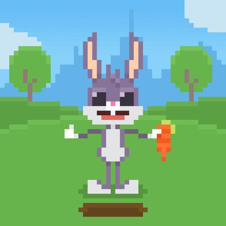 Bugs Bunny from The Looney Tunes Show #bugs #bugsbunny #rabbit #coniglio #looneytunes #looneytoons #warner #warnerbros #cartoonnetwork #cn #cartoon #cartoons #cute #awesome #animal #animals #instaanimal #instagood #instapic #instamood #instacartoon #pixel #pixelart #16bit #theoluk