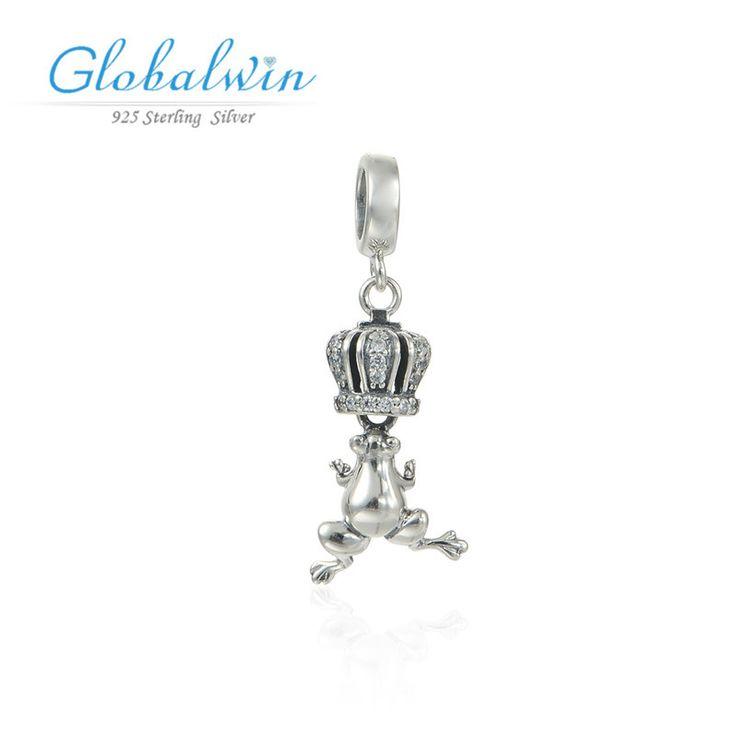 Серебро Лягушка Очарование Серебро 925 Европейских Подвески Fit Браслет Из Серебра Оригинальный Драгоценности 925 S204