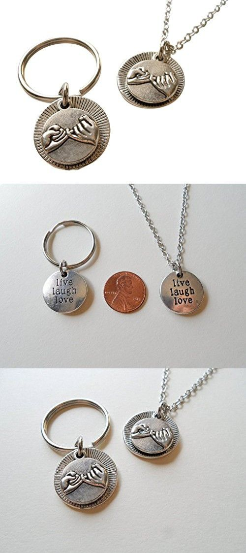 Pinky Promise Necklace & Keychain Set; Promise Gift, Couples Keychain Set