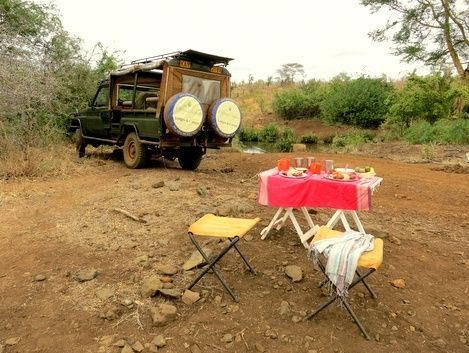 Bush lunch in #Bisanadi National Park with @OffbeatSafaris - Meru, Kenya