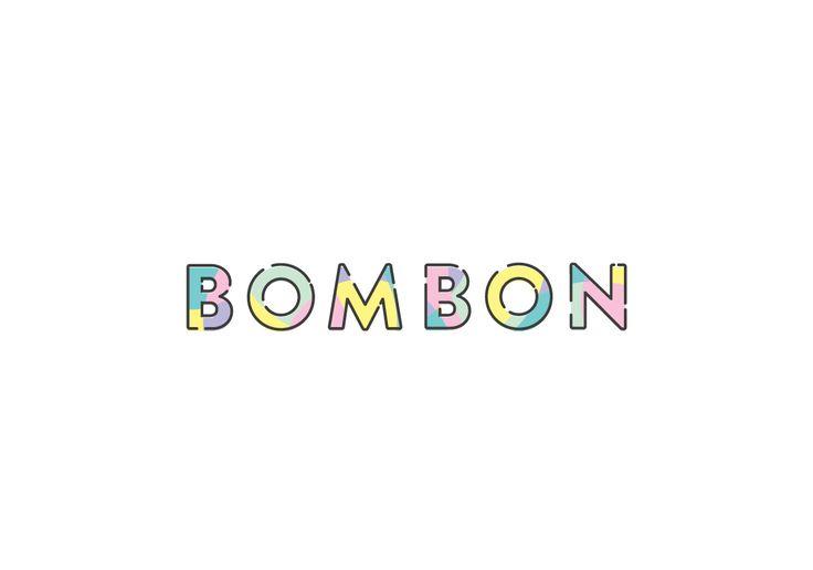 Fuzz Studio - BOMBON logo logotype sweets candy candies, kids stuff colorful typography lettering bom bon