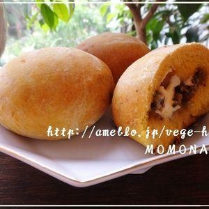 発酵なし♪3種のかぼちゃパン風レシピ ナツメグ風味(^-^)きんぴらごぼう・キムチチーズ・ゴーヤ佃煮包みました | レシピブログ