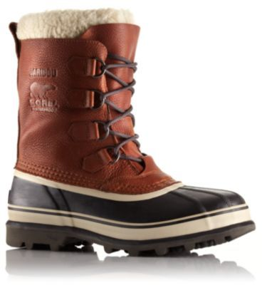 Men's Caribou® Wool Boot Often imitated but never equaled, the original Sorel boot features a nubuck leather upper with waterproof construction, seam-sealing and a removable ThermoPlus™ felt inner boot for warmth, comfort and protection in cold and wet winter weather.  $150