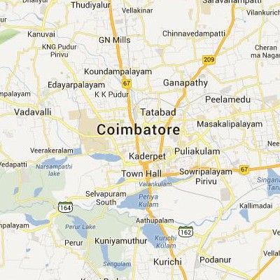 google satellite maps of coimbatore