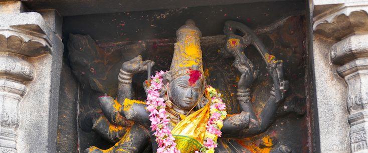 Chidambaram, die Stadt mit dem Tempel, der dem tanzenden Shiva geweiht ist. Pilgerstätte für viele Hindus, im indischen Bundesstaat Tamil Nadu