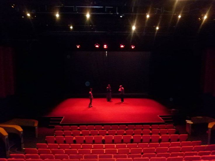 The show is set and ready at the Contact Theatre, Manchester. Show: Titus Andronicus