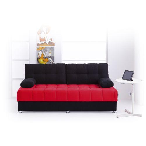 Futon Akçay Bonel Kanepe - Siyah Kırmızı Fiyatı