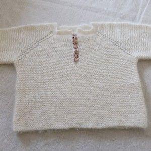 babytrøje i alpaca
