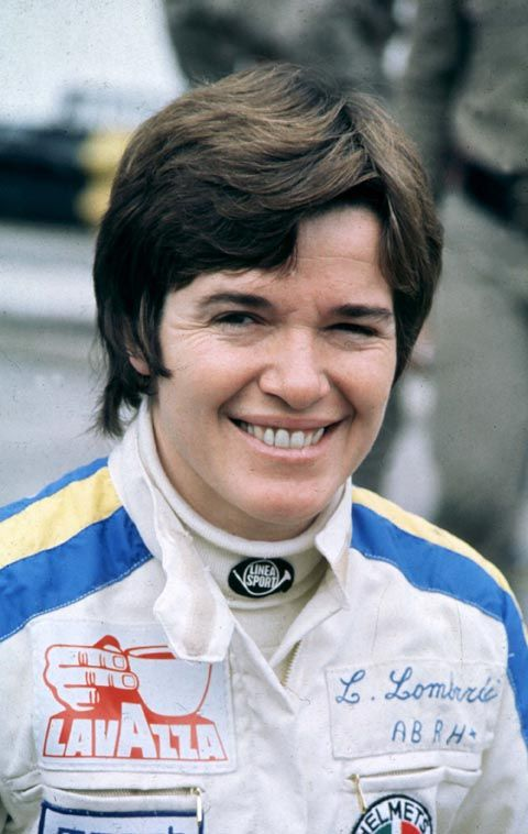 Lella Lombardi, the most successful woman in F1 history. She took part in 17 Formula Grands Prix, debuting on 20 July 1974. She is the only woman driver in history to have a top six finish in a World Championship race, at the 1975 Spanish Grand Prix. Half points were awarded for this race due to a shortened race distance, hence Lombardi received half a point instead of the usual one point. Lombardi later raced in sports cars with some success. She died of cancer in Milan in 1992, aged 50.