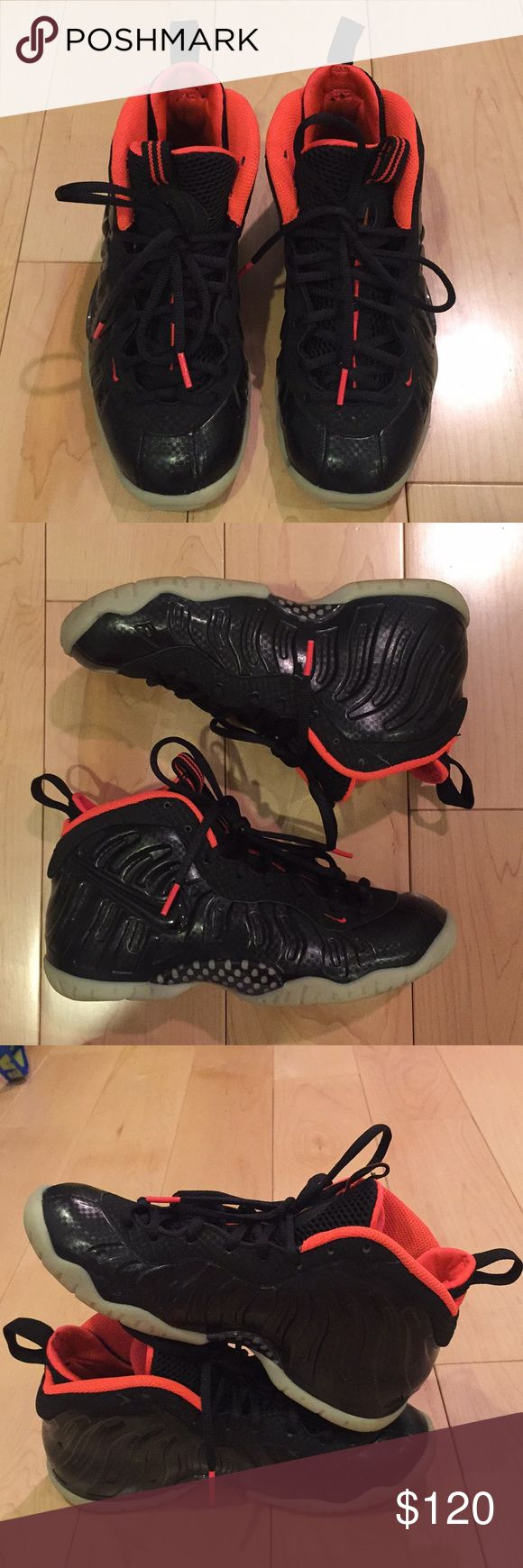 yeezy foamposite size 5y GS Used only 2-3 times , authentic , size 5y GS , I don't know what my boyfriend did with the box Nike Shoes