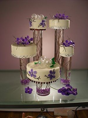 #LOVE THE DISPLAY # AWESOME DESIGN!!  -->Wedding Cakes With Fountains