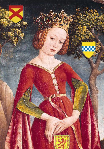 Marjorie Bruce, Princess of Scotland -  Wife of Walter Stewart, 6th High Steward of Scotland and daughter of Robert I 'the Bruce'.