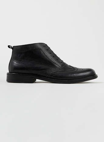 House of Hounds Kirby Black Brogue Boots
