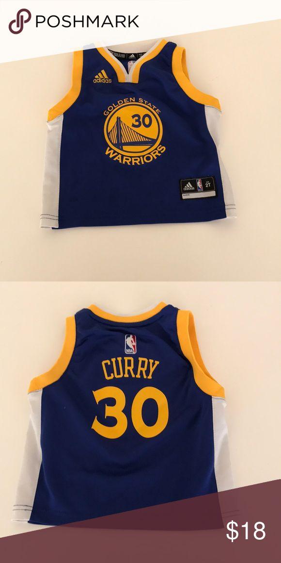 Golden State warriors curry jersey 2T Golden State warriors Stephen curry jersey 2T adidas Shirts & Tops Tank Tops