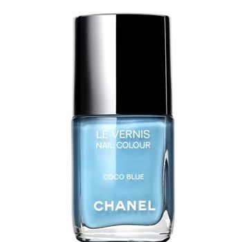 Chanel's Coco Blue nail polish. Love.