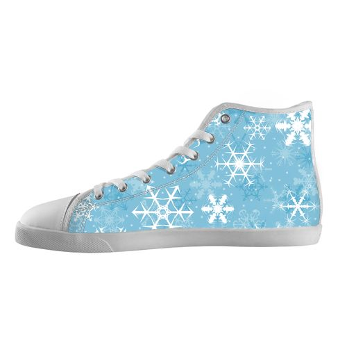 Snowflakes - Available Here: http://www.customdropshipping.com/personalized-design/personalized/snowflakes-high-top-canvas-shoes-model002-women-47262