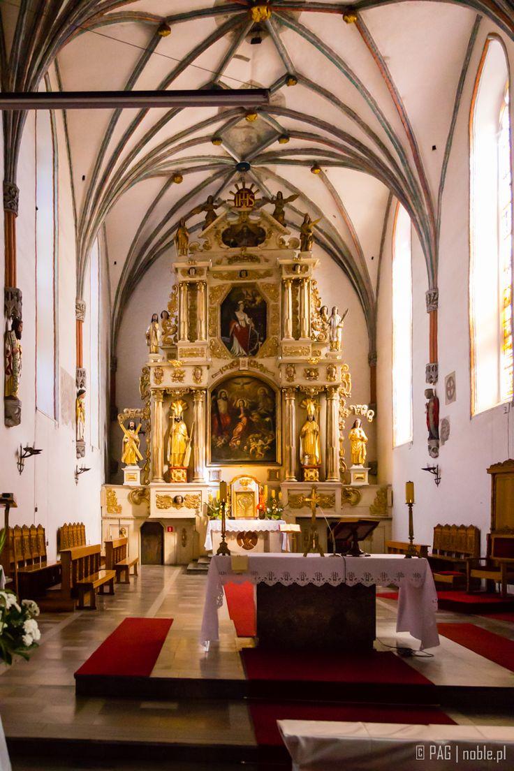 Interiors of St. Catherine Parish church in Brodnica, Poland