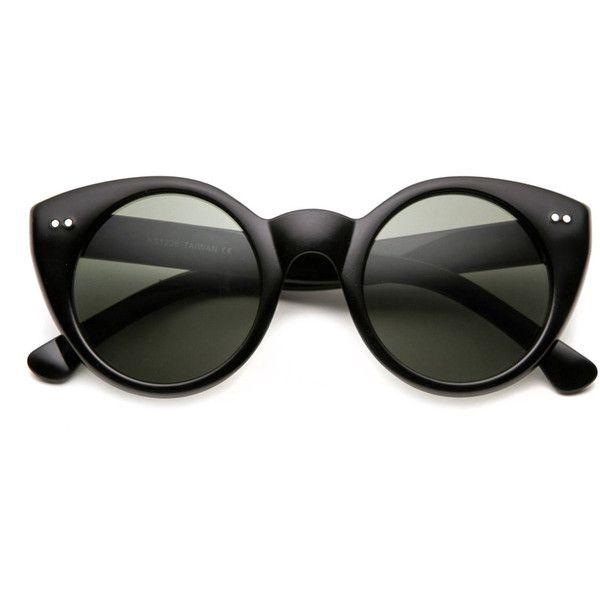 HONG Occhiali da sole street shoot round retrò occhiali da sole e senza bordi kkxly