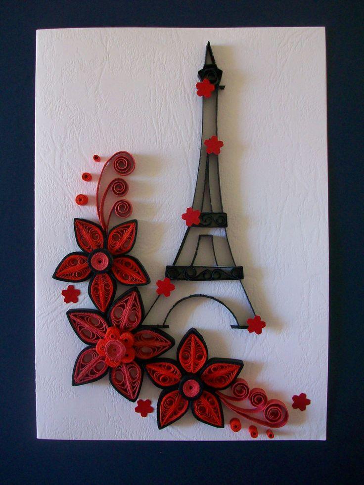 Quilling card, Handmade Quilling, Greeting card,Birthday card,  Valentines greeting card,Handmade card de HandmadeTedy en Etsy